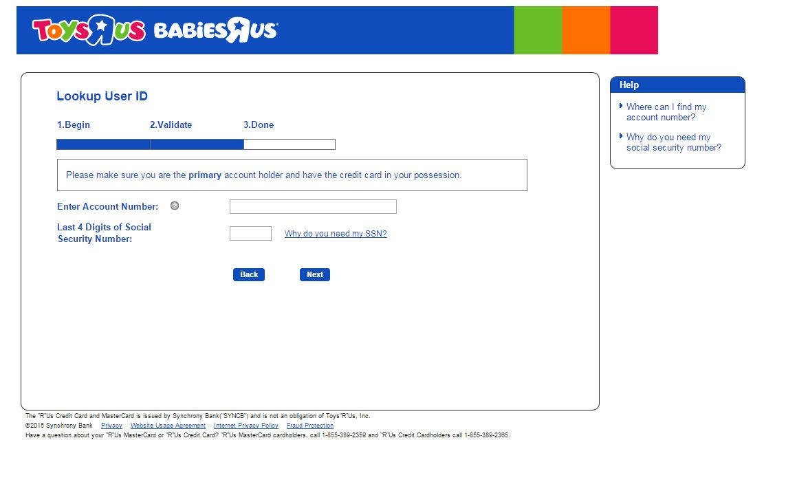 Toys R Us Credit Card Login And Payment Login