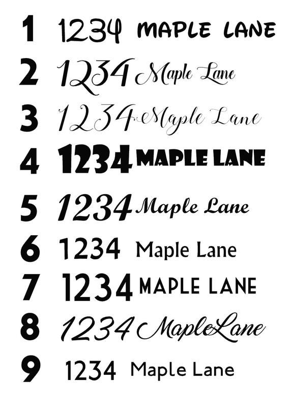 Mailbox Number Decals Set Of 2 Mail Box Address Decals House