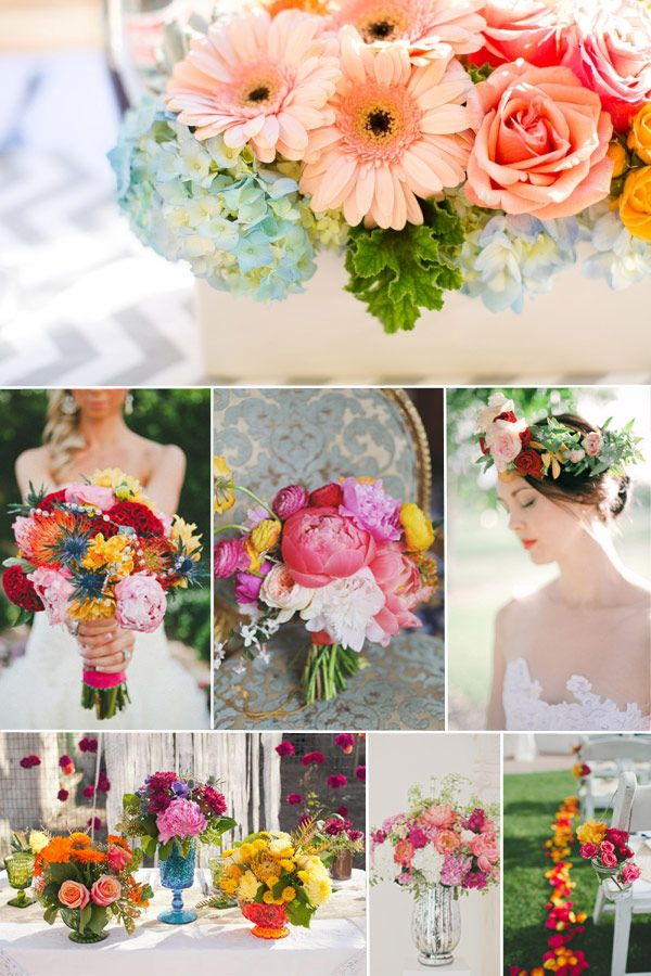 Bright And Colourful Wedding Ideas For Springsummer 2014 2015
