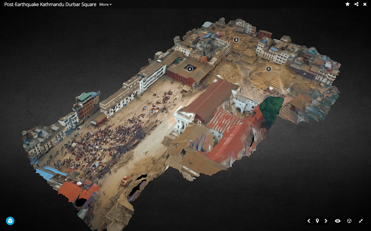NepalEarthquake Update - 3D model of the earthquake damaged Durbar