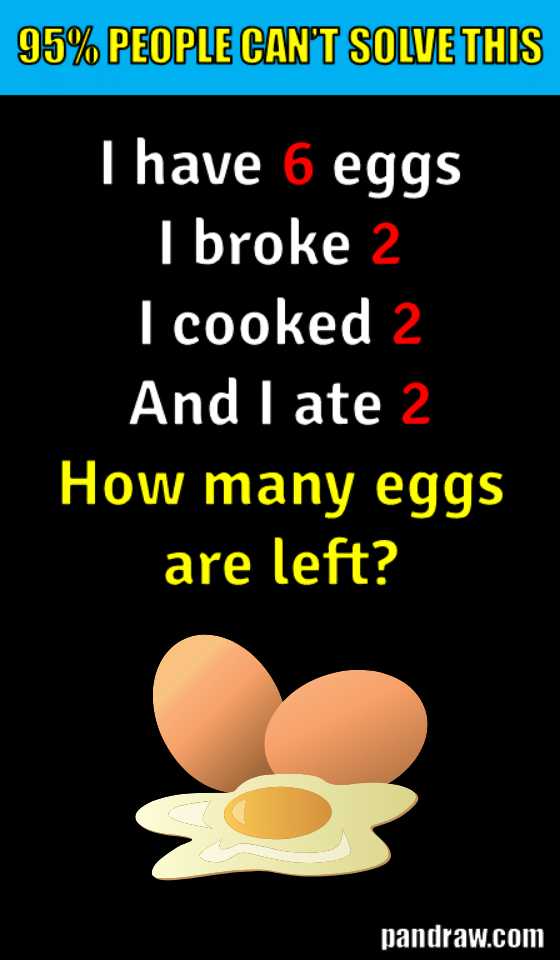 Can you solve this tricky egg riddle? trickyriddles