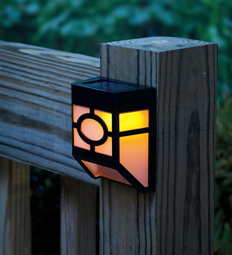 Mission-style Solar Deck Accent Lights Set Of 4 Light