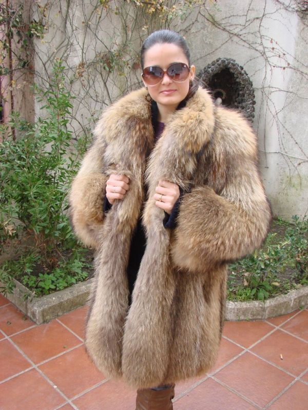 mens finnish raccoon fur coat - Google Search | Fur Coats