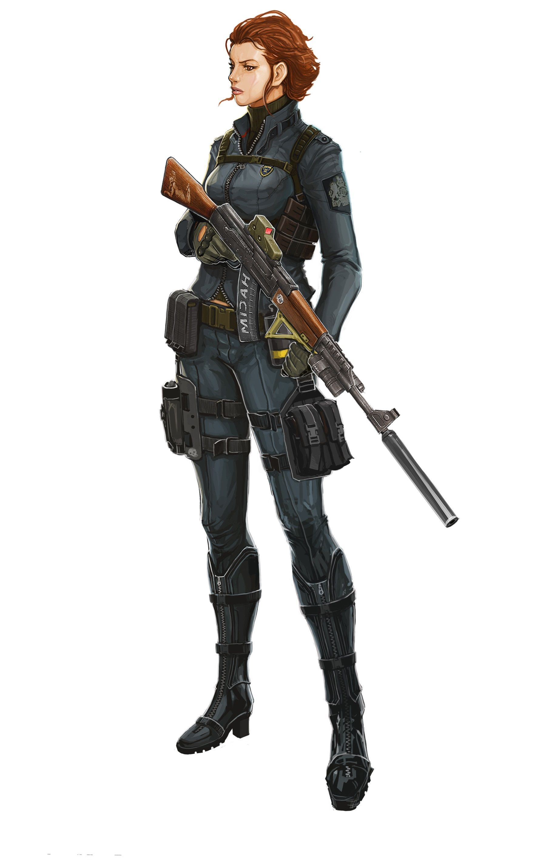 Female Human Soldier Mercenary Dnd Apocaplypse In 2019 Character