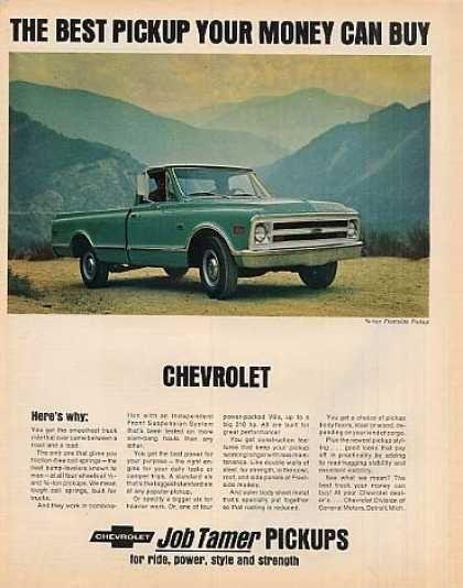 Chevrolet Pick Up Truck 1968 Chevy Trucks Pickup Trucks
