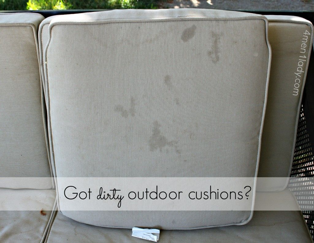 Gentil How To Clean Outdoor Cushions Tutorial. 1.5 Tsp. Dishwashing Detergent Soap  And 1.5 Tsp. Borax In 1 Quart Warm Water. I Put My Solution In An Old, ...