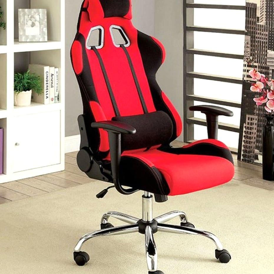 Helium Contemporary Office Chair In Red Benzara In 2020 Contemporary Office Chairs Reclining Office Chair Red Office Chair