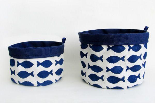 #Cestino #Pesci by Plum #handmade texile #design    30,00 €