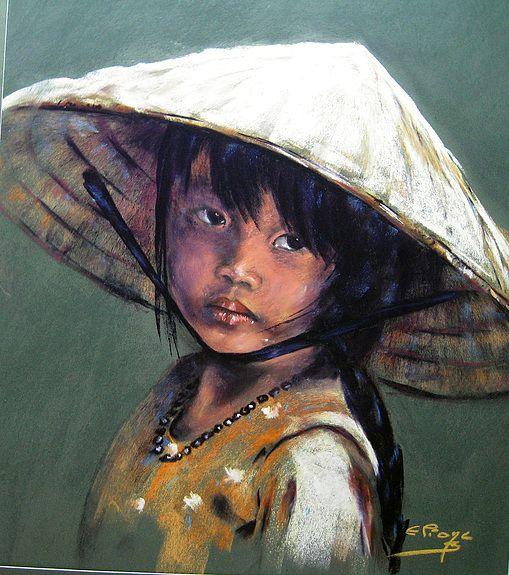 Eliane bordarier portrait au pastel sec ly yung - Dessin au pastel sec ...