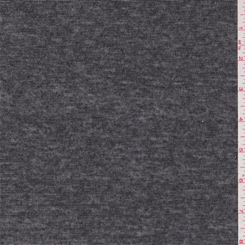 0a1749ff5c9 Smoke Black/Silver Metallic Jersey Knit - 36516 - Fabric By The Yard At  Discount Prices