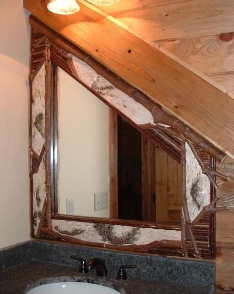 Chimney Rock Bark & Twig Adirondack rustic furniture frames mirrors ...