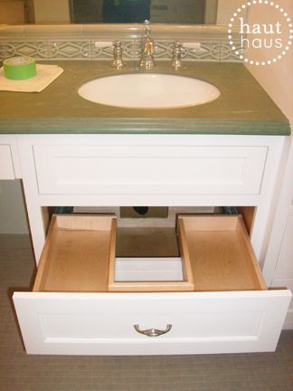 Storage solution under the sink sinks drawers and sink for Under sink cabinet tray