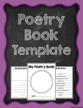 Poetry Book Template | Pinterest | Poetry unit, Poem and Template