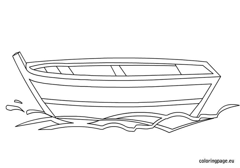 Small Boat Coloring Page Coloring Pages Small Boats Templates Printable Kids