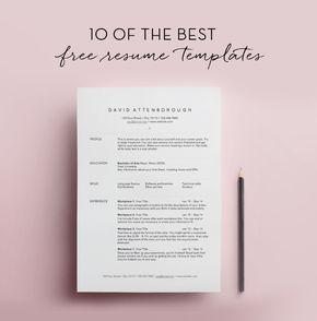 Free Resumes Templates 10 Free Resume Templates