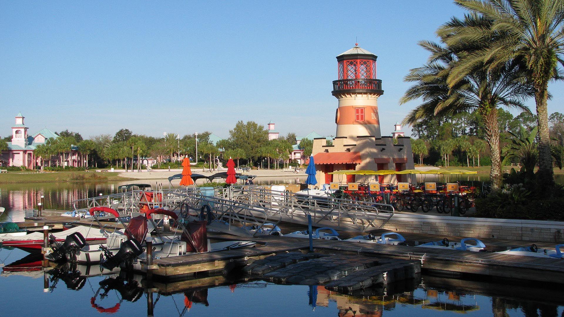 Disney Caribbean Beach Resort Lighthouse Dock