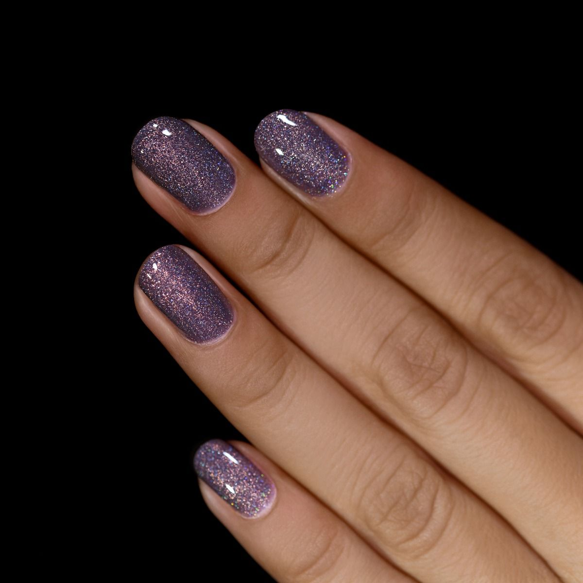 Chateau - Charcoal Grey Holographic Shimmer Nail Polish by ILNP