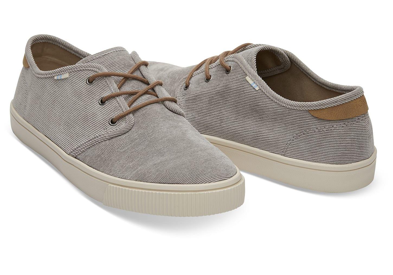 b2997dcc94 Toms Cement Micro Corduroy Men s Carlo Sneakers Shoes - 10.5 ...