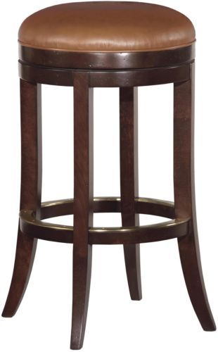 New Bar Stool Pub Style Upholstered Swivel Seat Umber Brown Bar Stools Stool Counter Stools