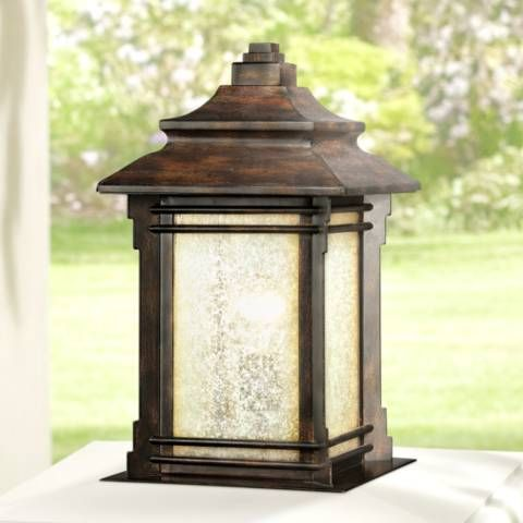 Hickory Point 16 1 2 Walnut Bronze Outdoor Pier Mount Light N8950 Lamps Plus Outdoor Post Lights Outdoor Lamp Posts Post Lights
