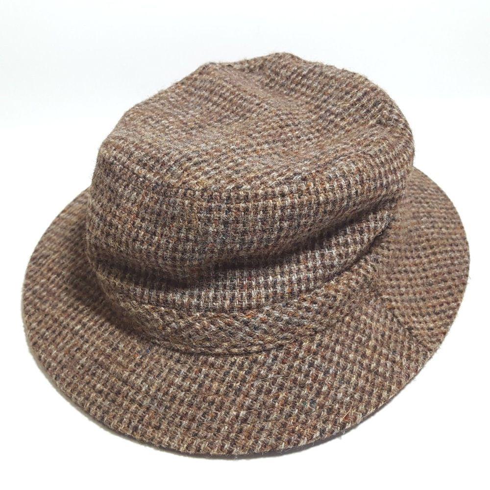e197cab16 Details about LL Bean Harris Tweed Newsboy Cabbie Golf Hat Cap Gore ...
