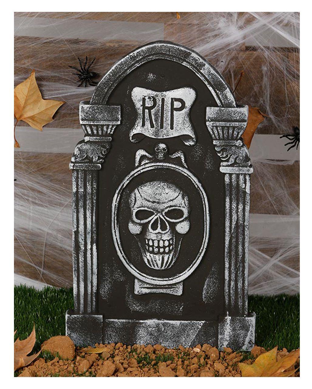 Grabstein RIP und Totenschädel Figuras