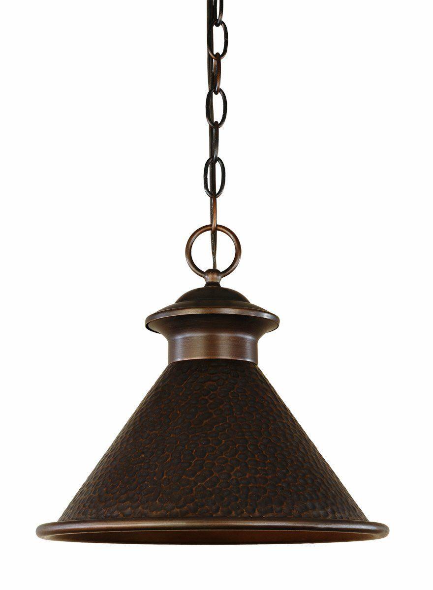 World Imports 9008 86 Dark Sky Essen 12 Inch Single Light Hanging Antique Copper
