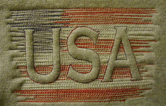 Usa Flag Trapunto Sample My Embroidery Digitizing And