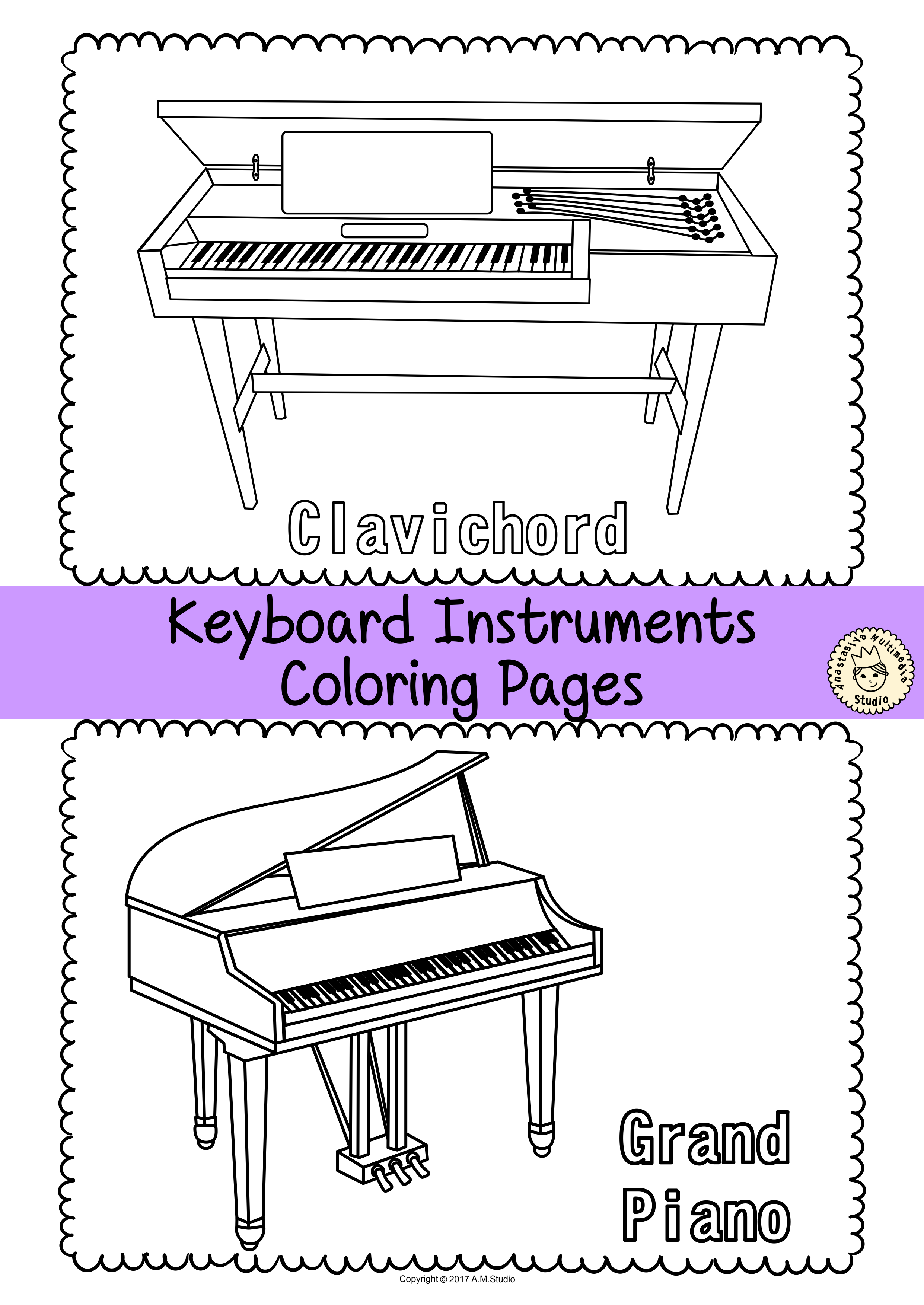 This Resource Contains 55 Musical Instrument Coloring Pages Individual Images Each Page Contains An Instrument P Musicals Musical Instruments Coloring Pages [ 3506 x 2482 Pixel ]
