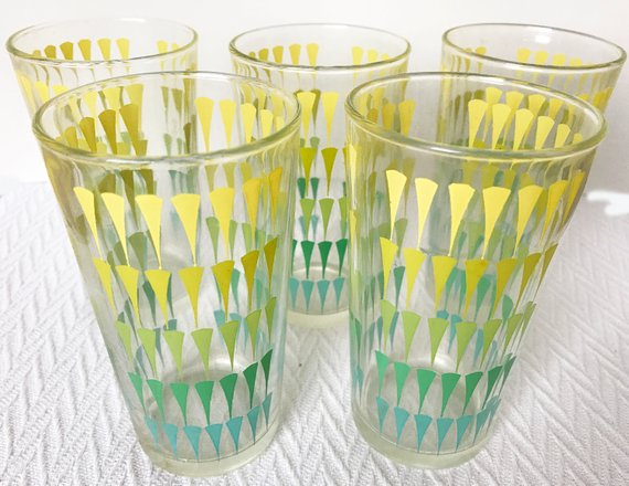 Mid-Century Continental Can Company Drinking Glasses Tumblers