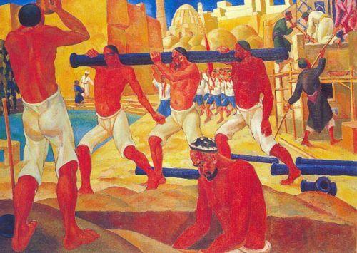 Nikolay Karakhan: Constructing a Road, 1932. Karakalpak Museum of Arts http://fazendoartedmc.blogspot.com.br