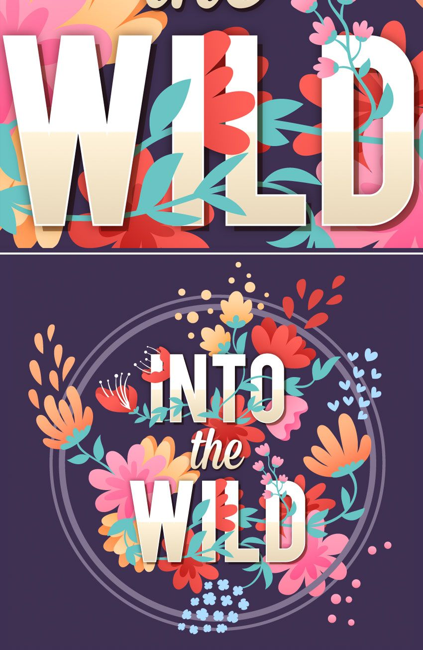How to Create Vector Floral Typography in Adobe
