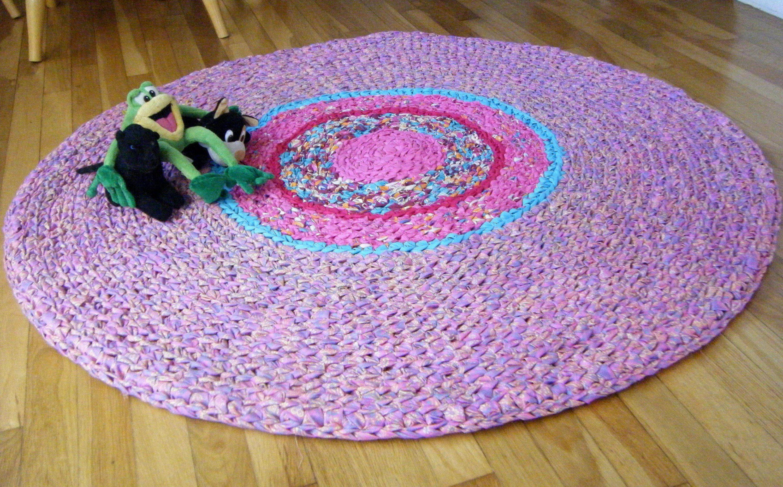 Aqua Blue And Pink Area Rug Girls Rugs Crochet Rug Girls Rugs Pink Area Rug Colorful Area Rug