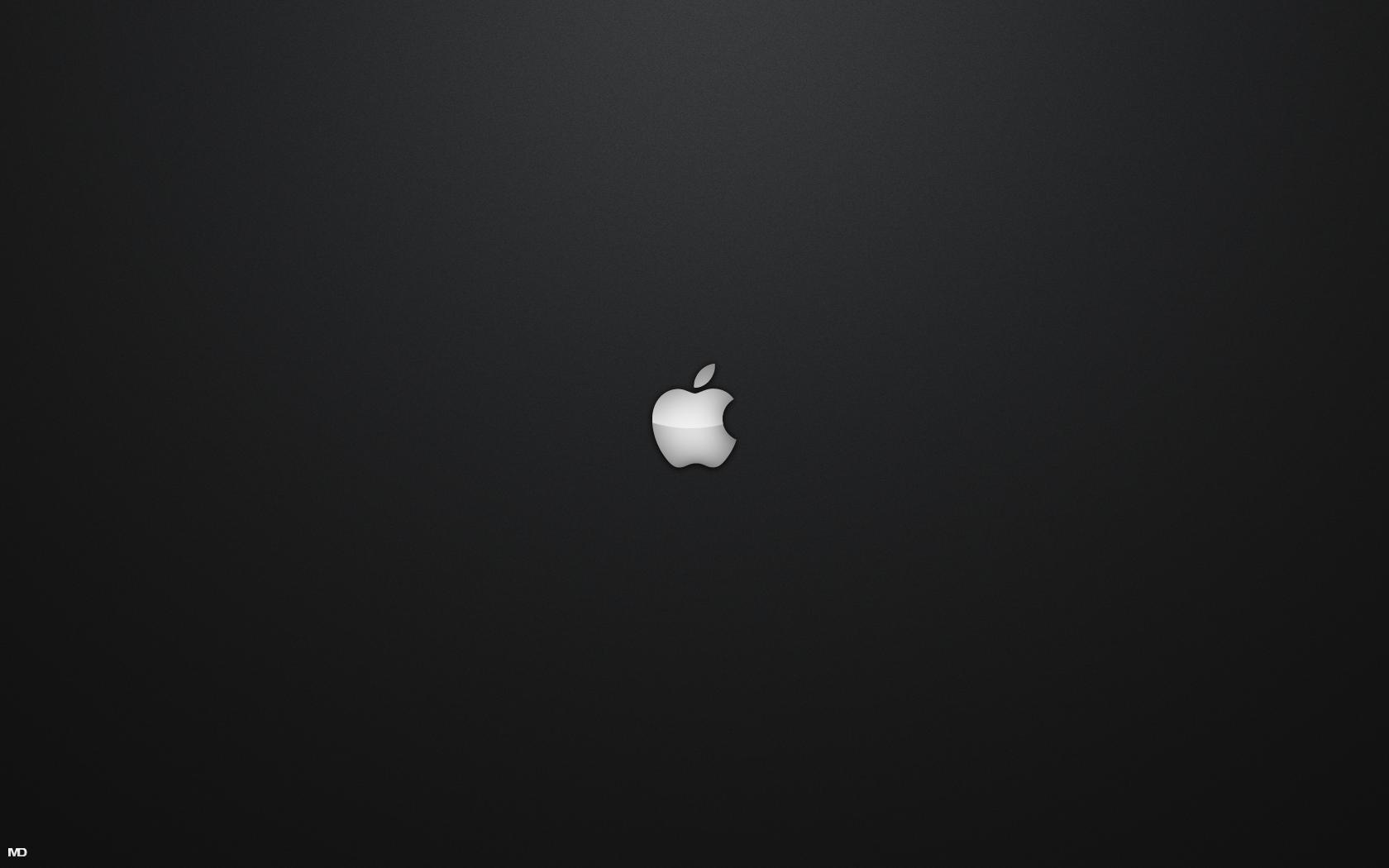 Обои яблоко, темный фон, apple. HI-Tech