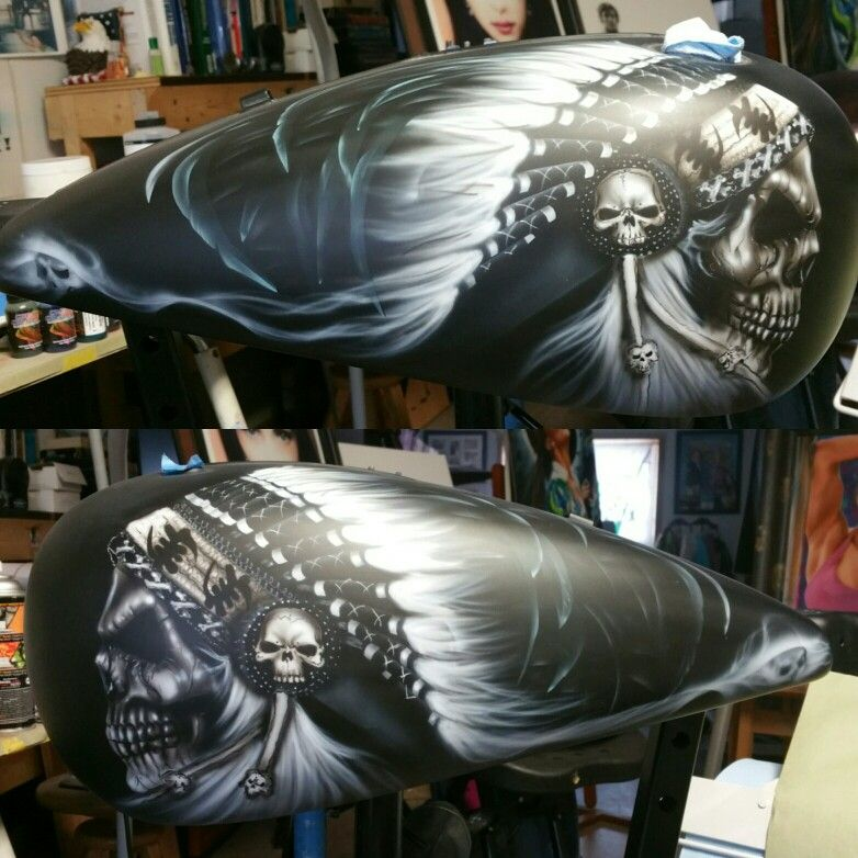 2016 Indian Motorcycle tank skull concept Motorcycle