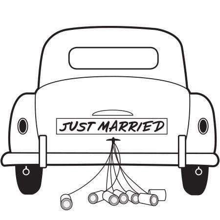 just married car st in 2020 frisch verheiratet auto