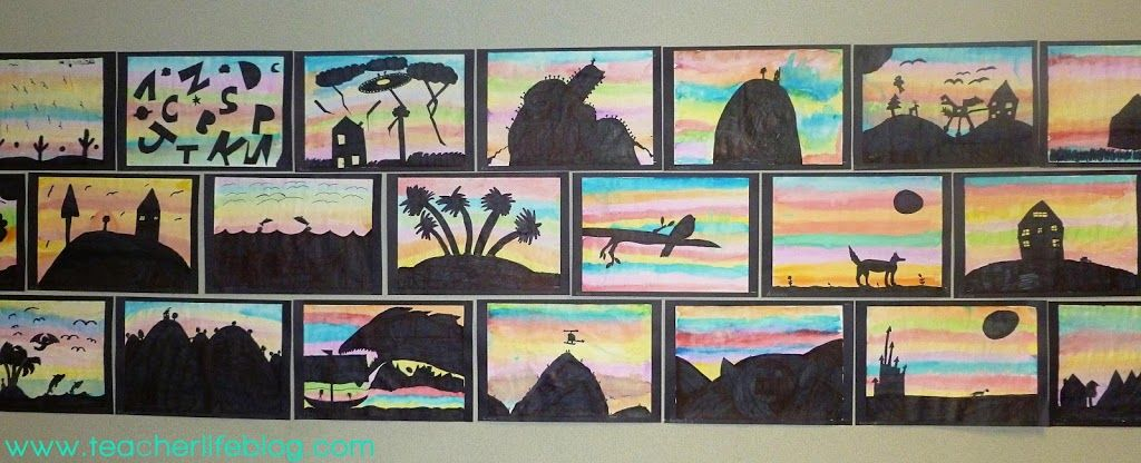 Sunset Silhouettes An Art Lesson That Will Wow Visual Art