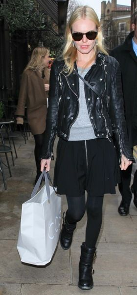 Kate Bosworth in a leather jacket