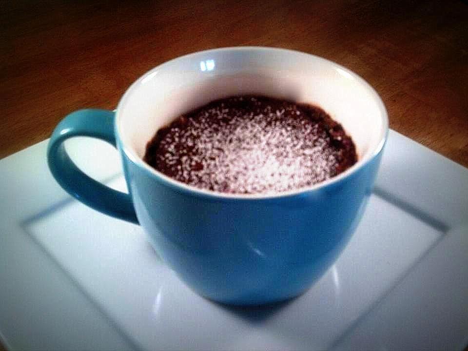 Nutella Lava Mug Cake~ In a very large mug (16oz +) mix 4T ...