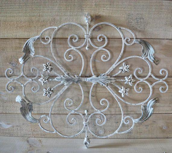 White Iron Wall Decor Adorable Vintage Wrought Iron Wall Decor Shabby White Shabby Chic  My Design Inspiration