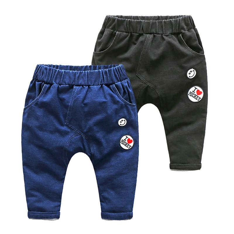 d6fb1cf017c New Arrival Jeans For Boys Casual Solid Denim Trousers Cute Spring Harem  Pants With Smile Pattern
