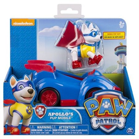 Sam Paw Patrol Apollos Pup Mobile Vehicle And Figure Target