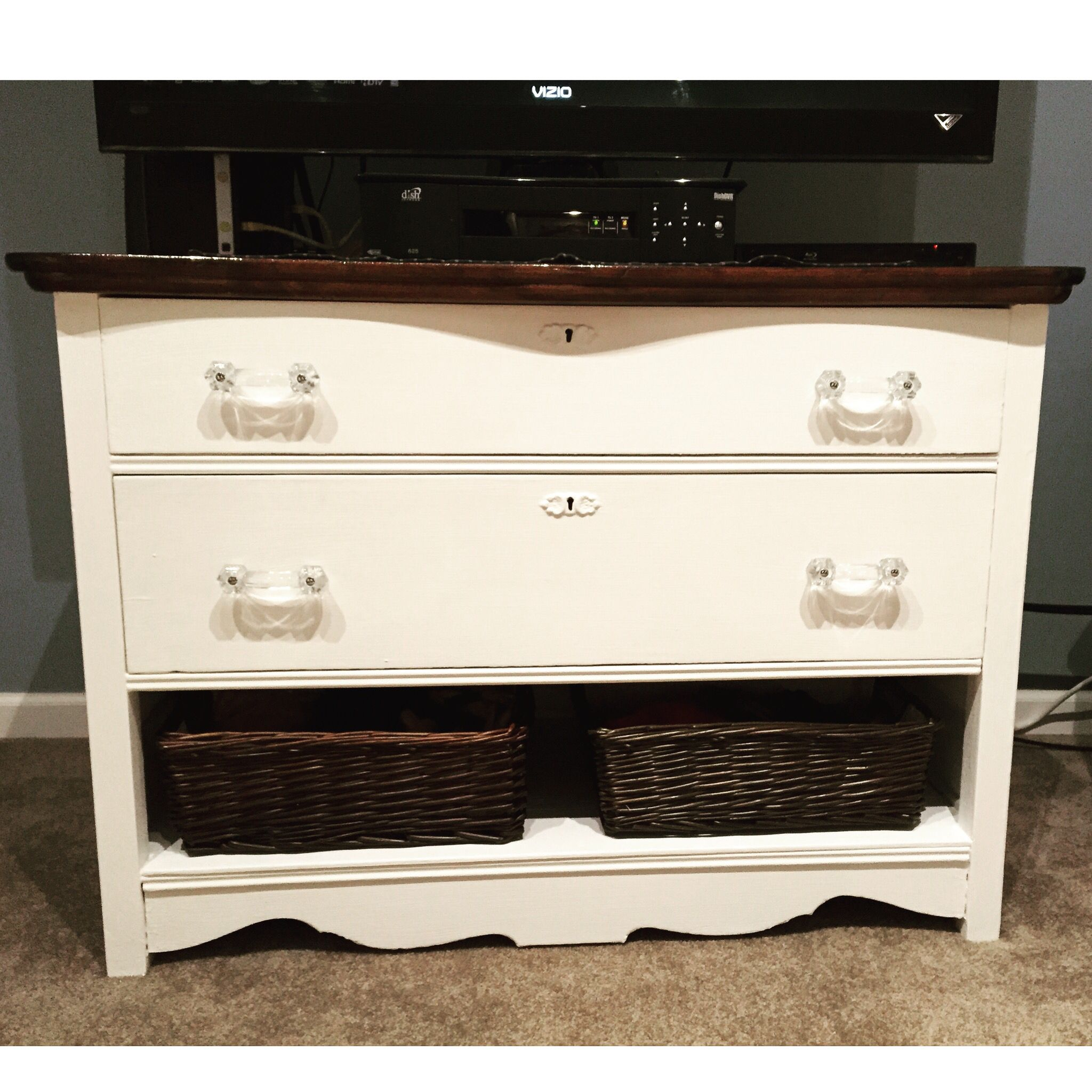 Pure White Annie Sloan Chalk Paint And Glass Drawer Pulls Minwax Espresso Stain With Minwax One Coat Polyurethane Glass Drawer Pulls Pure Products