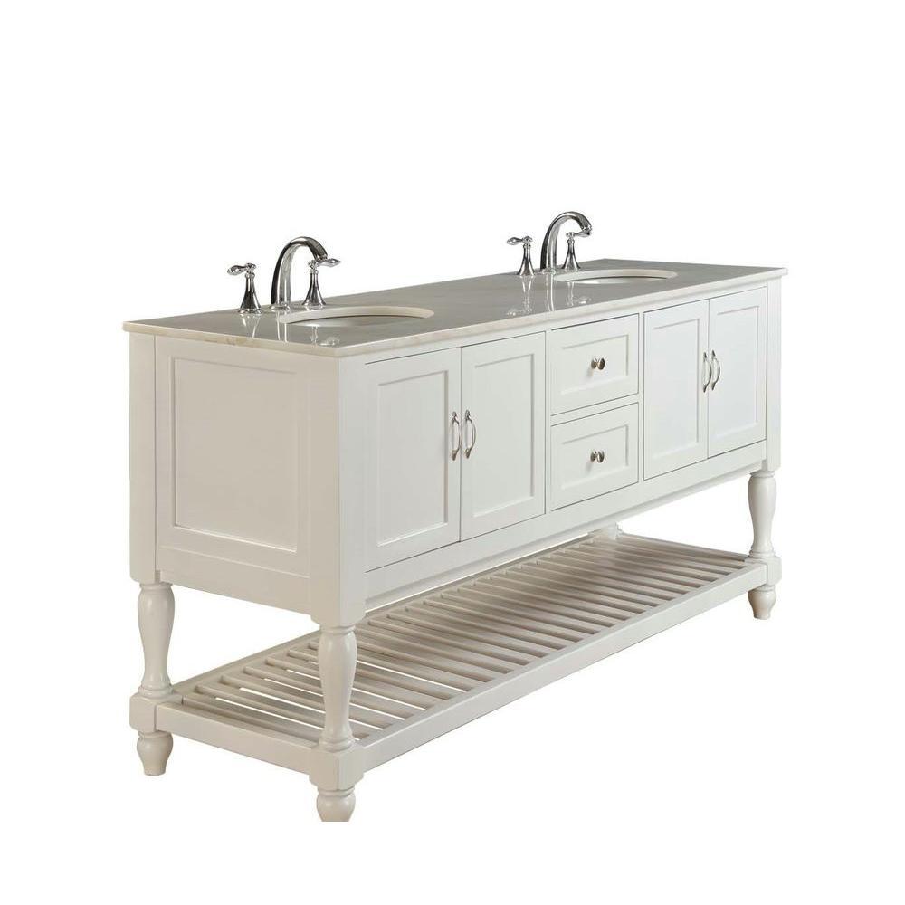 Direct vanity sink Mission Turnleg 9 in. Double Vanity in Pearl