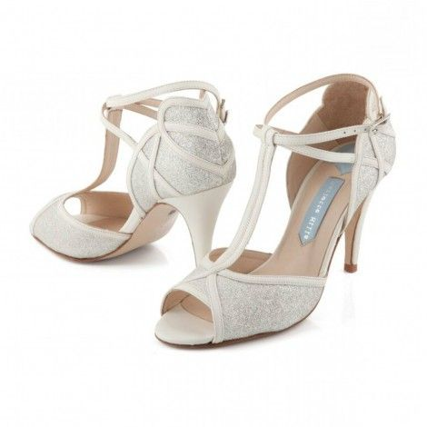 Betty Ivory And Silver Glitter By Charlotte Mills Designer Wedding Shoes