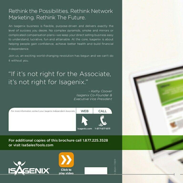 Rethink Healthy lifestyle, Isagenix, Isagenix business