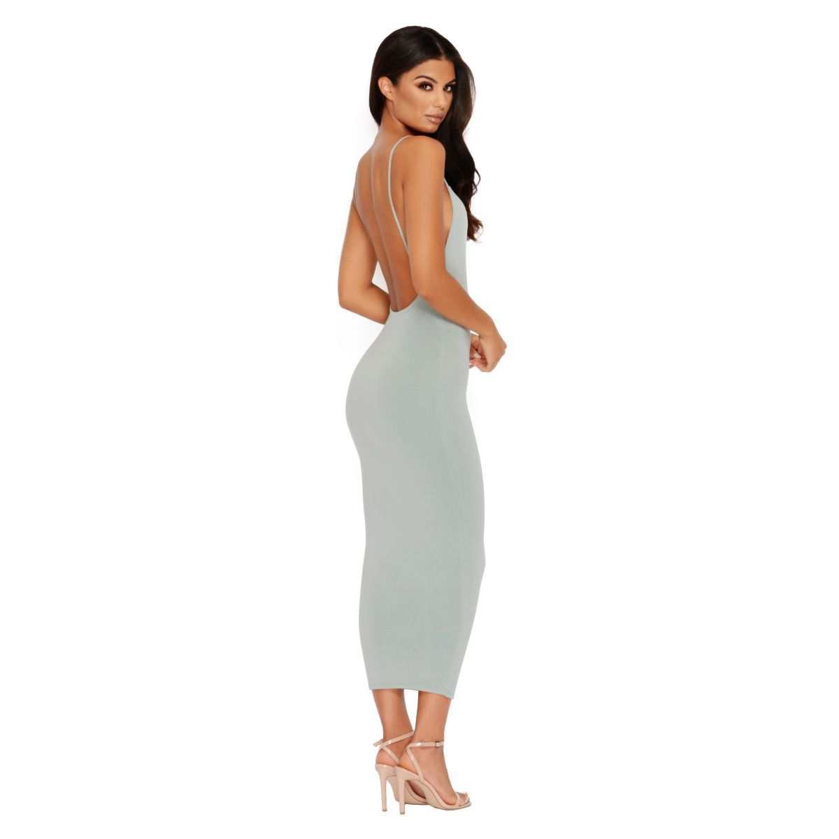 Low Back Strappy Midi Dress Main Strappy Midi Dress Dresses Midi Dress [ 1200 x 1200 Pixel ]