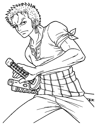 One Piece Coloring Pages : piece, coloring, pages, Anime, Manga, Piece, Coloring, Pages, Printable, Online, Roronoa, Zoro,, Drawing,, Sailor