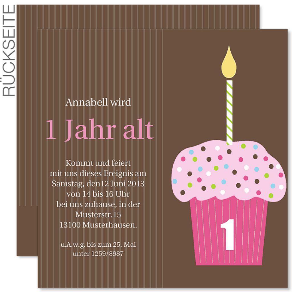 Einladung Geburtstag Einladung 1 Geburtstag Geburstag