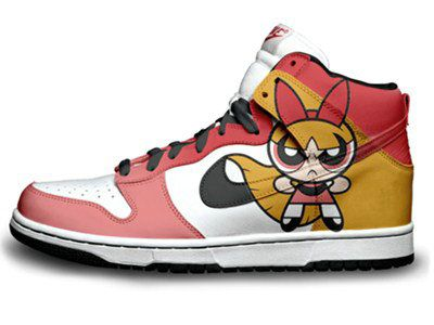Nike Dunks Custom Design Sneakers : Shoes The Powerpuff Girls Nike SB Dunk  High Top 3 .